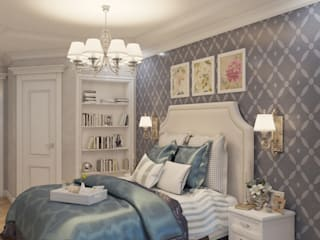 Спальня: Спальни в . Автор – Дизайнер интерьера Екатерина Семыкина