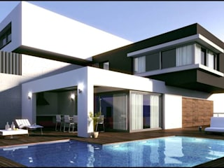 モダンな 家 の Grupo Puente Arquitectos.com モダン