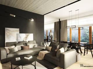 Apartament Ochota: styl , w kategorii Salon zaprojektowany przez Bartek Włodarczyk Architekt