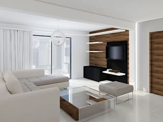wnętrza domu w nowoczesnym stylu: styl , w kategorii Salon zaprojektowany przez yv design