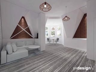 Mieszkanie na wynajem: styl , w kategorii Salon zaprojektowany przez yv design