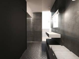 INTÉRIEUR D'UNE MAISON CONTEMPORAINE PRES DE LYON Salle de bain moderne par sebastien belle Moderne