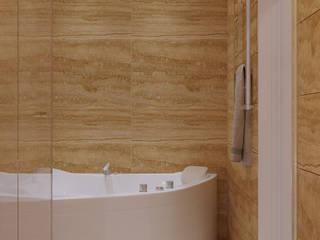 Квартира в современном стиле с элементами экостиля. Москва. 135 кв.м.: Ванные комнаты в . Автор – Бюро9 - Екатерина Ялалтынова