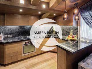 Ambra Piccin Architetto Rustic style kitchen Wood Brown