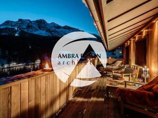 Ambra Piccin Architetto Rustic style balcony, veranda & terrace Wood Brown