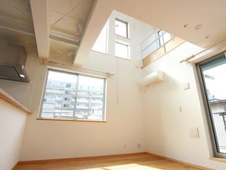 軽量鉄骨の家 オリジナルデザインの リビング の 一級建築士事務所有限会社石原建設 オリジナル