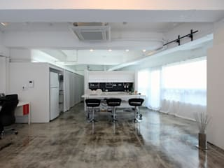 Living room by HJL STUDIO, Industrial