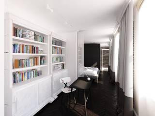 mieszkanie w kamienicy: styl , w kategorii Domowe biuro i gabinet zaprojektowany przez oshi pracownia projektowa,