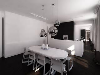 mieszkanie w kamienicy: styl , w kategorii Kuchnia zaprojektowany przez oshi pracownia projektowa,