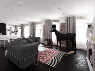mieszkanie w kamienicy: styl , w kategorii Salon zaprojektowany przez oshi pracownia projektowa,