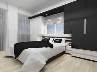 PRATIKIZ MIMARLIK/ ARCHITECTURE Chambre minimaliste MDF Noir