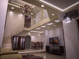 Pasillos y hall de entrada de estilo  por Reda Essam, Moderno
