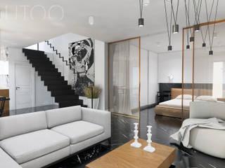 MARMUROWA ELEGANCJA Nowoczesny salon od UTOO-Pracownia Architektury Wnętrz i Krajobrazu Nowoczesny