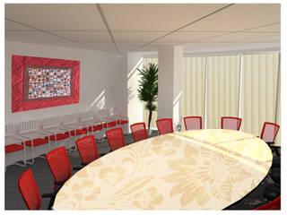 Концепт переговорных банка ХоумКредит Офисные помещения в эклектичном стиле от 33dodo Эклектичный