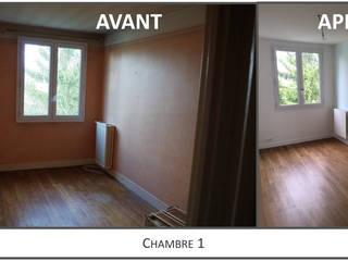 Chambre 1 Avant-Après:  de style  par Kutch Architecture Intérieur