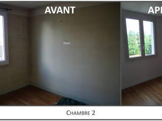 Chambre 2 Avant-Après:  de style  par Kutch Architecture Intérieur