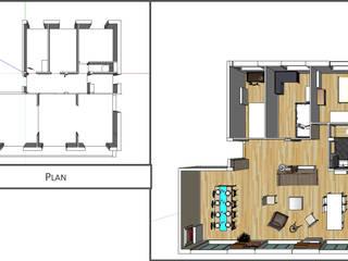 Plan Avant-Après:  de style  par Kutch Architecture Intérieur