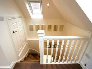 Loft & Extension, Raynes Park Cube Lofts Modern corridor, hallway & stairs