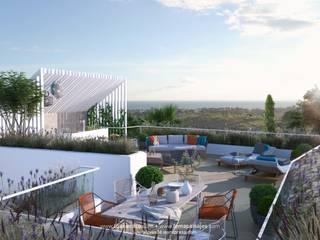 LEMApaisajes Balcone, Veranda & Terrazza in stile mediterraneo