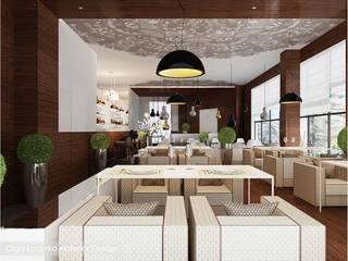 Интерьер кафе, проект для Cafe_Simple_1 от Design by Ladurko Olga Эклектичный