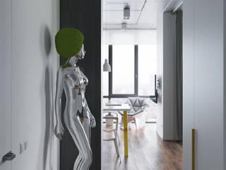 Ruang Keluarga oleh Студия Антона Сухарева 'SUKHAREVDESIGN', Industrial