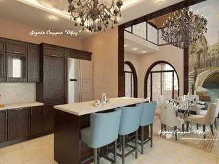 Кухня + Столовая комната Кухни в эклектичном стиле от Дизайн Студия 'Образ' Эклектичный