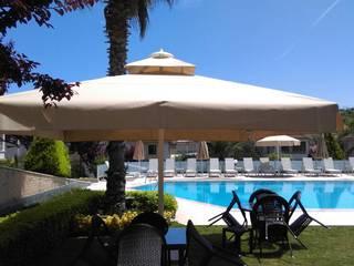 Akaydın şemsiye Mediterranean style garden Aluminium/Zinc Beige