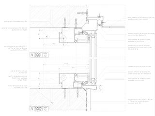 Carpintería en Piel de Vidrio - Detalle en corte:  de estilo  por mm ARQUITECTOS