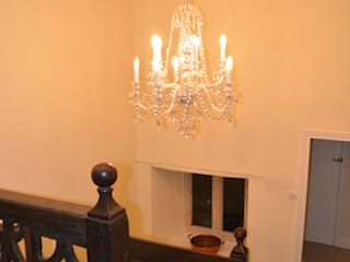 Tiley Manor Classical Chandeliers Classic style corridor, hallway and stairs
