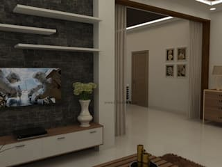 4 Bedroom Apartment Interior Design Bangalore by Ghar360