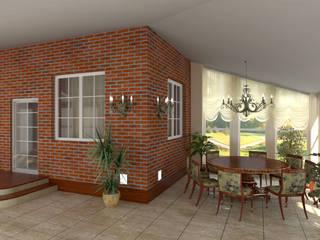 Terrasse de style  par Архитектурно-дизайнерская студия Александра Шереметьева, Industriel
