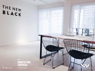 Showroom THE NEW BLACK: Oficinas y Tiendas de estilo  por SV Arq