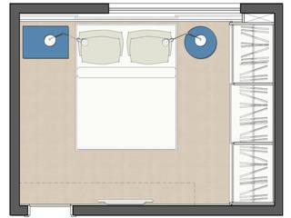 Quarto e Escritório Jovem Solteiro: Quartos  por Suzana Duarte - Arquitetura & Design