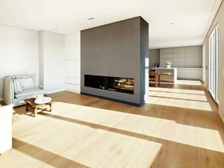 Ruang Keluarga Modern Oleh pur natur Modern