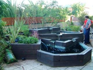 La terraza de Pilar:  de estilo  de Agrópolis Jardín