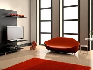 Maison contemporaine: Salon de style  par 3d Immobilier