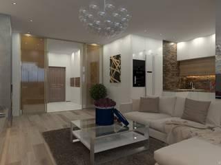 Ильинское шоссе 97м2 Гостиная в стиле минимализм от HOUSE&HOME Минимализм