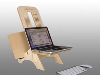 Slider Desk - Computer Sitz-/Steh-Arbeitsstation - Laptop Stand:   von wood-manufaktur,