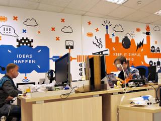 """Оформление офиса интернет-магазина """"Амперка"""" Офисы и магазины в эклектичном стиле от 33dodo Эклектичный"""