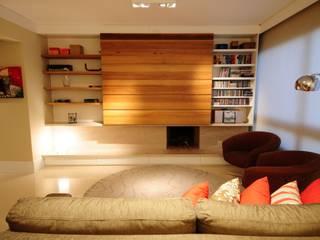 Apartamento Rio Branco. Salas de estar modernas por João Linck | Arquitetura Moderno