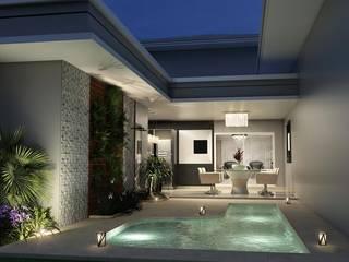Residência AC & CE Piscinas clássicas por Celis Bender Arquitetura e Interiores Clássico