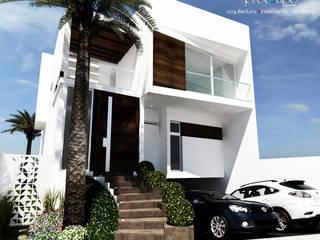 Prototipo Arquitectos 現代房屋設計點子、靈感 & 圖片 水泥 Multicolored