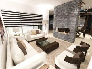 Salon de style  par Prototipo Arquitectos