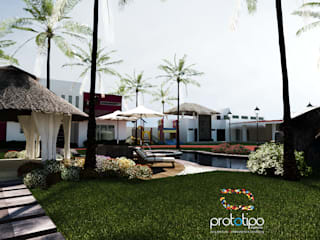 Balcon, Veranda & Terrasse modernes par Prototipo Arquitectos Moderne
