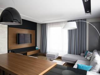 apartament w północnej części Krakowa: styl , w kategorii Salon zaprojektowany przez Ormezowski - projektowanie wnętrz