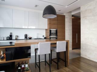 apartament w północnej części Krakowa: styl , w kategorii Kuchnia zaprojektowany przez Ormezowski - projektowanie wnętrz,