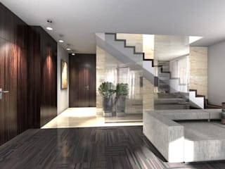 apartament w Krakowie : styl , w kategorii Salon zaprojektowany przez Ormezowski - projektowanie wnętrz