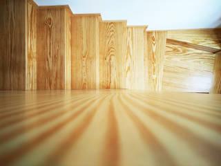 Casa dos Mercantéis Corredores, halls e escadas minimalistas por GRAU.ZERO Arquitectura Minimalista