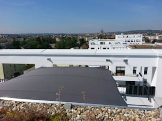 c4sun Sonnensegel derraumhoch3 Moderner Balkon, Veranda & Terrasse