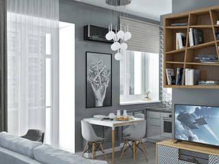 Гостиная комната совмещенная с кухней: Гостиная в . Автор – Юров Денис